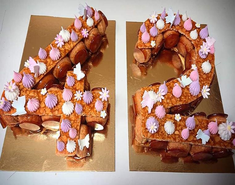 Numbercake croquebouche